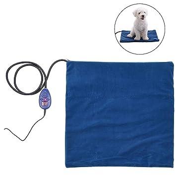 Lispeed Mascotas Calentador Cojín Manta eléctrica Alfombrilla térmica Perro Perro Gato Cama Manta eléctrica Dormir Espacio
