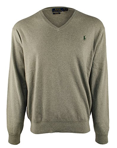 Men's Xxl Polo Various Lauren Jumper Grey V neck S Ralph Cotton Pima Colours wUEgxOOqS