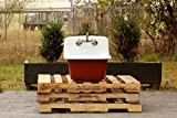 Farmhouse Bathroom Sink Vintage Style Deep Utility Sink Antique Inspired High Back Cast Iron Porcelain Farm Sink Package Incarnadine Red