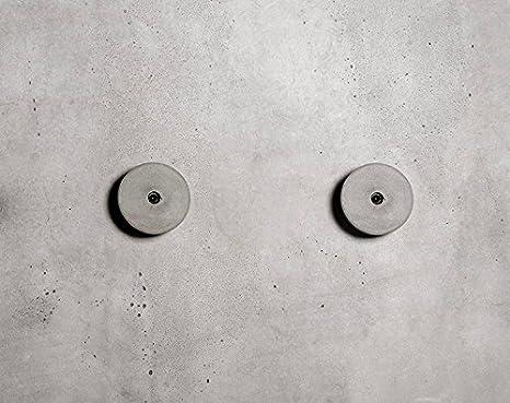 anaan Decimal Appendiabiti a Parete Calcestruzzo Cemento Attaccapanni Muro  Tondo Ganci da Parete Moderno Design Ingresso Decorazione Geometrico ...