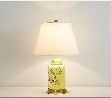 liguqi @ cerámica lámpara dormitorio noche lámpara de mesa American País Salón Europea Retro Jardín Pájaros