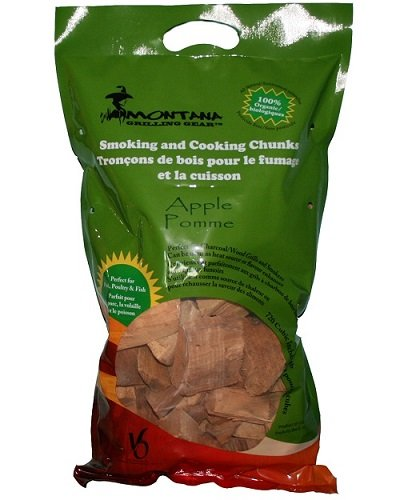 Montana Grilling Gear Smoking and Cooking Wood Chunks – 100% Organic and Pesticide Free - Safe for Grills and Smokers - 10lb Bag - Apple - WCH10-AP Villa Olympic Inc