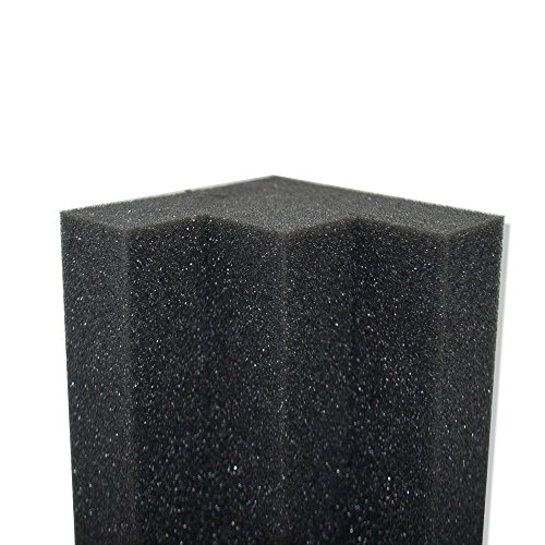 Column acoustic wedge studio foam corner block finish for Foam block wall construction