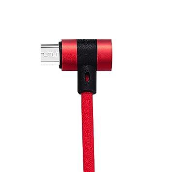 AzuNaisi Cable Micro USB Cable Micro de 90 Grados Codo Doble ...