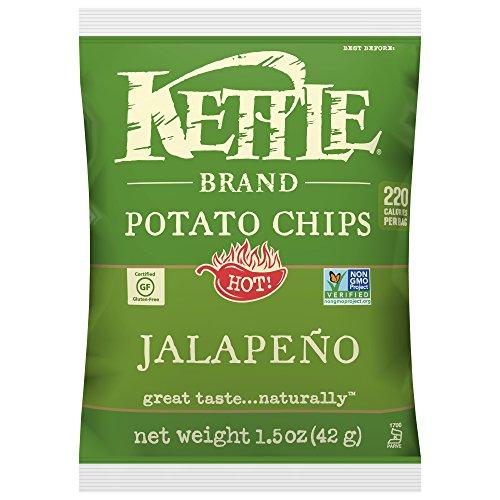 Kettle Brand Potato Chips, Jalapeno, Single-Serve 1.5 Ounce (Pack of 24)