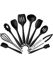 Starall Silikon köksredskap, silikon redskapsset, hållbar praktisk non-stick värmebeständig köksverktyg köksredskap set (10 st/set)