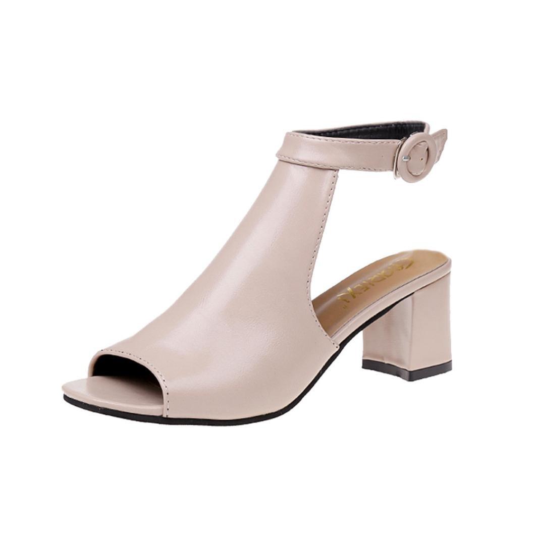 b8973d19ddc14 Tsmile Womens Sandals Ladies Fashion Wedges Sandals Ankle High Heel ...