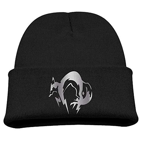 (Toddler Infant Kids Metal Gear Solid Fox Hound Platinum Logo Knit Beanies Cap)