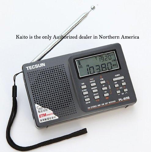 "Tecsun Digital AM FM Shortwave Radio DSP Black 30/"" Telescopic Antenna Portable"