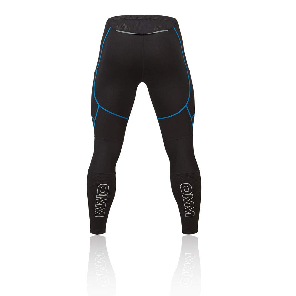 Omm Flash Winter Mens Long Running Tights Black Men's Clothing