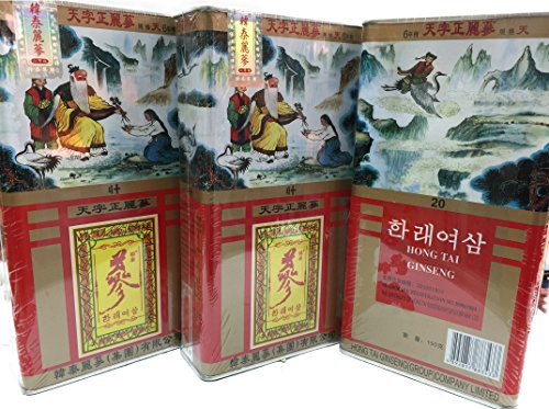 Korean Hong Tai Red Ginseng 六年根 20支 150grams 韓泰麗參 韩泰丽参 Free Worldwide AIR Mail by Korean Hong Tai Red Ginseng