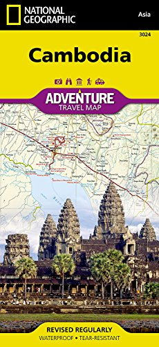 Cambodia (National Geographic Adventure Map)...