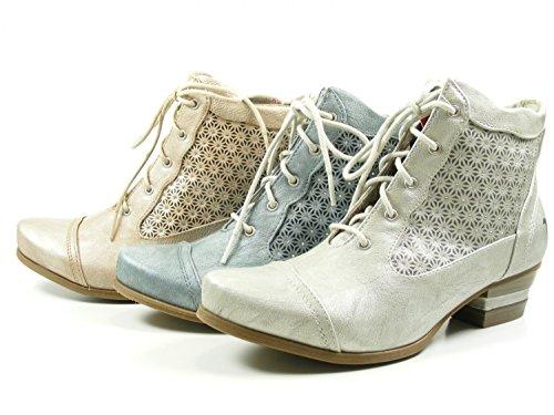 Material Sintético De 21 Plateado Para Mujer Silber Mustang Botas silber vgCcEE