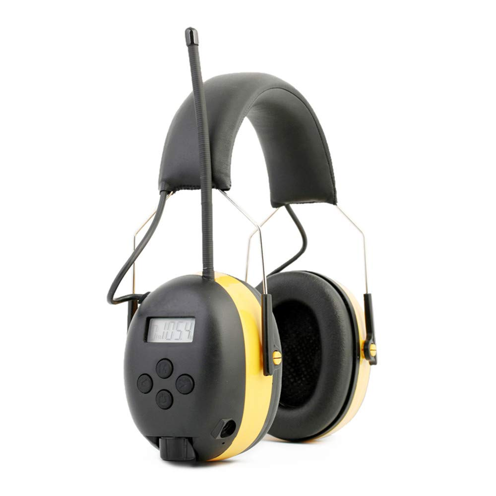 Ear Defenders Noise Reduction Soundproof Prevention Ear Muffs, Shooters Hearing Protection Ear Muffs, Adjustable Headset, Noise Cancelling Headphones , Ear Defenders Fits Adults to Kids Blue Yellow He by Xiuzhifuxie (Image #2)
