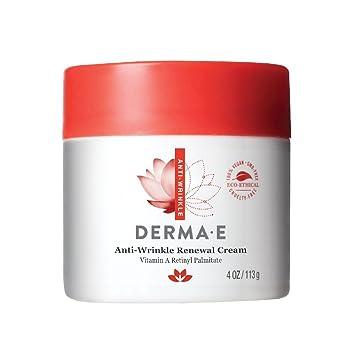 Anti-Wrinkle Renewal Cream - 4 oz. by DERMA-E (pack of 4) Dramatic Eye Cream - # 02 Soul Plum 0.14oz