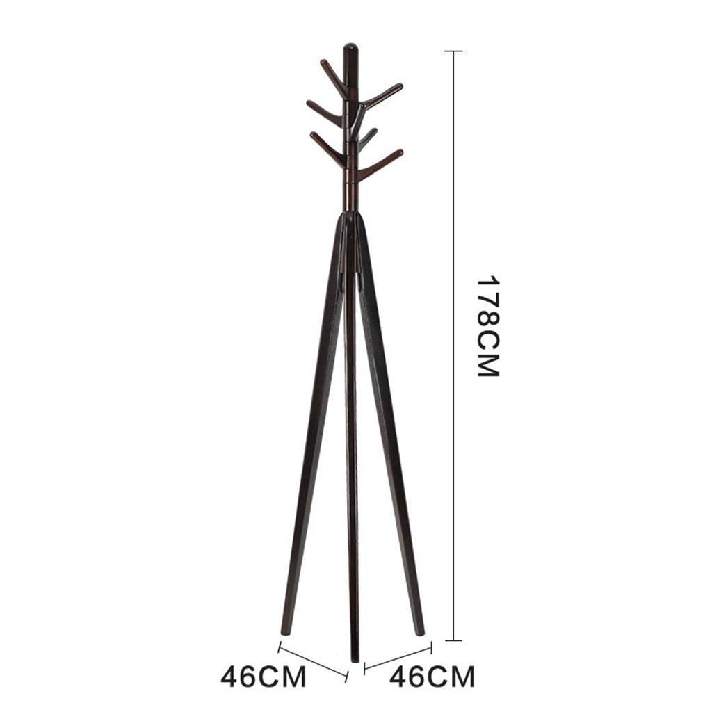 LQQGXLModern minimalist coat rack, Coat Solid Wood Floor Bedroom Creative Hangers (Brown 178 cm)