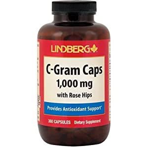 Lindberg C-Gram Caps 1,000 mg with Rose Hips (360 Capsules)
