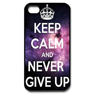 Customized Dual-Protective Case for Iphone 4,4S, Never Give Up Cover Case - HL-525723