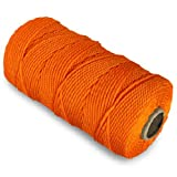 CWC Twisted Mason Twine - #18 x 1100', Orange (Pack of 12 tubes)