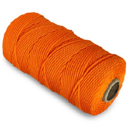 CWC Twisted Mason Nylon Seine Twine, Pack of 12 tubes (550' - #18 8 oz. tubes, Orange)