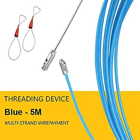 Bleu Proglam /électricien Fil c/âble Extracteur de Filetage Appareil fonctionnant laisses avec Corde en Acier 2/pcs connecteur 20M