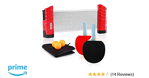 Amazon.com   XGEAR Anywhere Table Tennis Set Includes Retractable Net Post 49f50b40f47f0