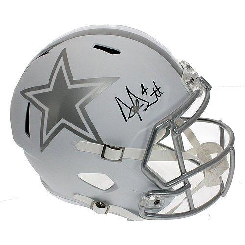 Dak Prescott Signed Dallas Cowboys Alternate ICE Speed Replica Full Size Helmet - JSA Certified Authentic
