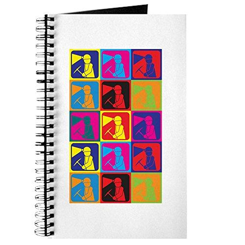 Bound Helmet T-shirt - CafePress - Mining Pop Art Journal - Spiral Bound Journal Notebook, Personal Diary, Lined