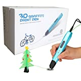 CFTech Professional Printing 3D Pen with LCD Temperature Display USB Power Supply for Model Printing, Doodling, Art/ Crafts Drawing,DIY and Education, Support 1.75mm PLA/ABS Filament