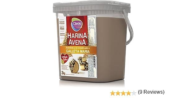 Harina de avena - 2Kg - Sabor Galletas Maria con leche: Amazon.es ...