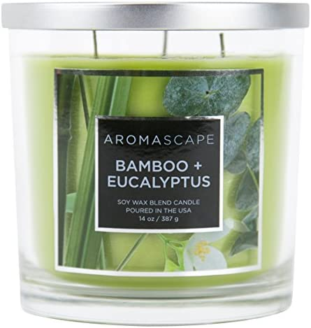 Aromascape 3 Wick Scented Candle Eucalyptus