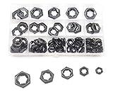 Pushnuts Kit, cSeao 105pcs Black Push On Lock Nuts Assortment Kit, M6/ M8/ M10/ M12/ M14