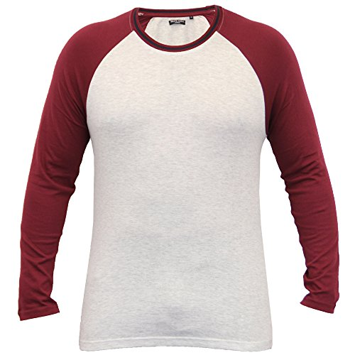 Herren Langärmlig Jersey Oberteil T-shirt Von Brave Soul - Ecru - 149ALTARIA, Small