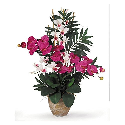 Nearly-Natural-Double-Phalaenopsis-and-Dendrobium-Orchid-Silk-Flower