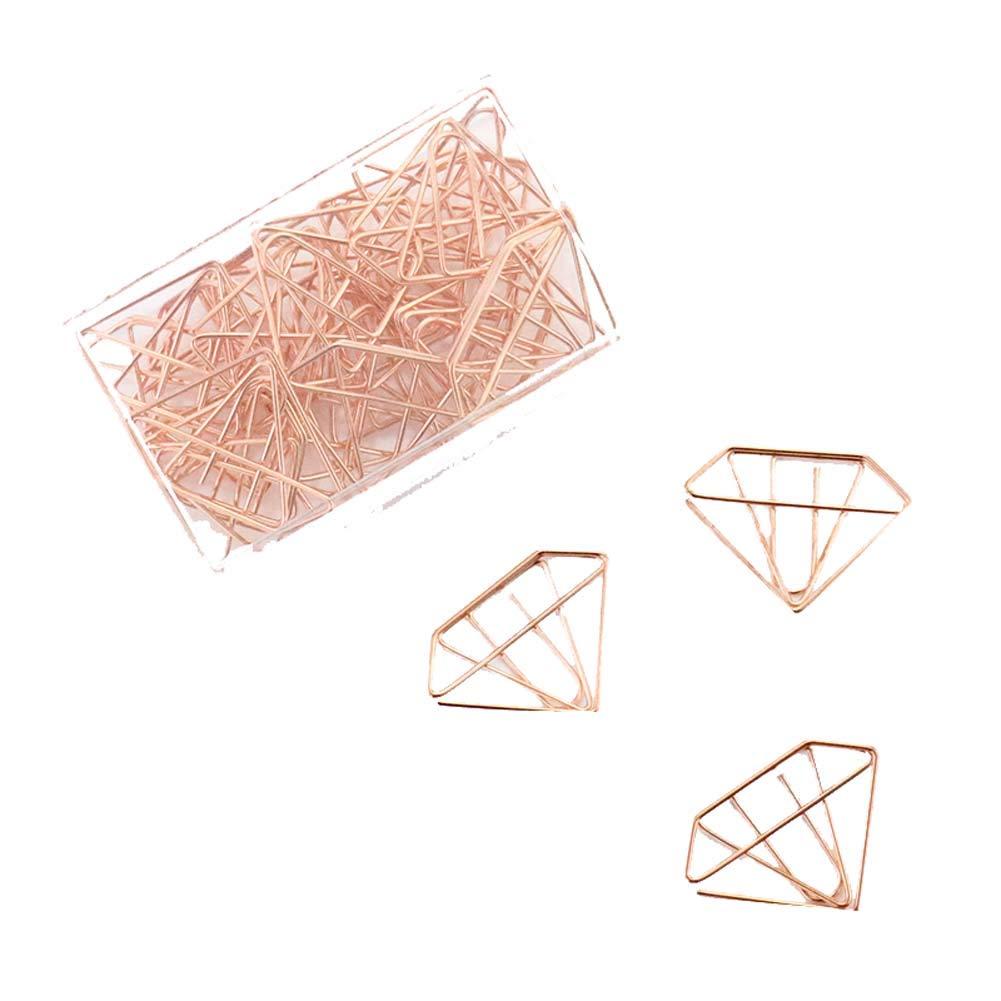 30 Pieces Design of Diamond Shape Paper Clip, C1