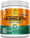 Advanced Calming Soft Chews for Dogs - With Suntheanine & Melatonin - Anxiety Composure Aid with Organic Hemp & L Tryptophan for Dog Stress Relief - For Storms + Barking & Chewing - 90 Chew Treats