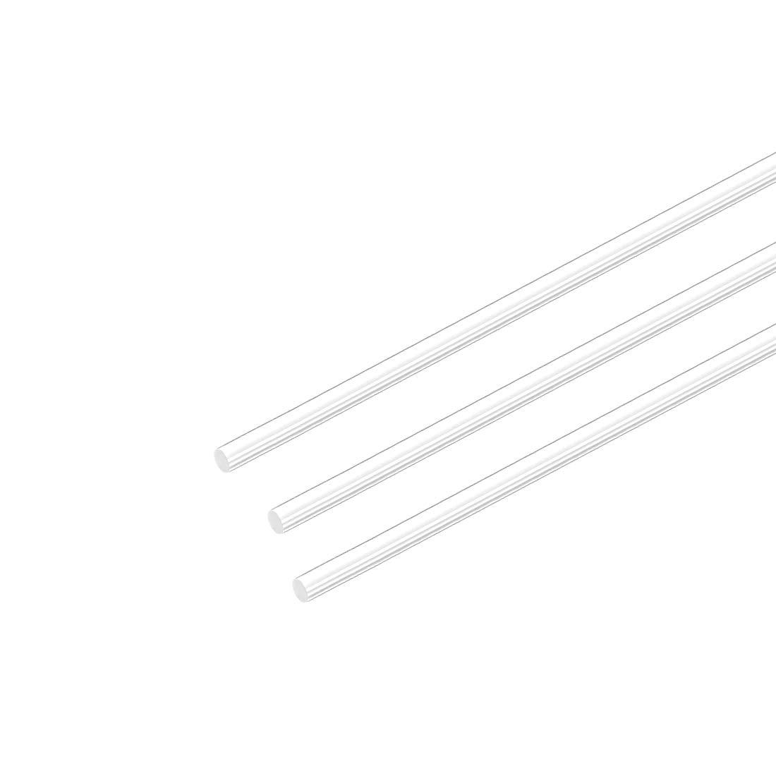 "4mm Dia 20/"" LengthAcrylic Round Rod,Clear Acrylic Plexiglass Rods PMMA Bar 3pcs"