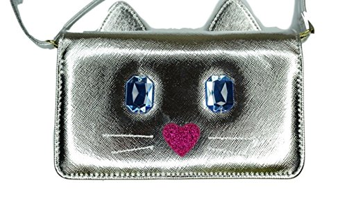 String Johnson a Body Bag Silver on Wallet Kitty Cat Cross Betsey Luv CHq8wx6B0