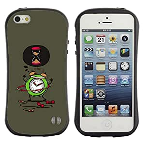 """Hypernova Slim Fit Dual Barniz Protector Caso Case Funda Para Apple iPhone SE / iPhone 5 / iPhone 5S [Alarma de Trabajo de oficina 9-5 del sueño""""]"""