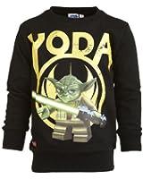 Lego Wear Jungen Sweatshirt Star Wars STORM 150 - Yoda SWEATSHIRT