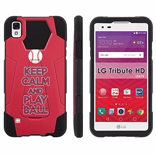 LG Tribute HD Phone Cover, Keep Calm and Play Ball - Anaheim- Hexo Hybrid Armor Phone Case for [LG Tribute HD] with [Kickstand] by Mobiflare
