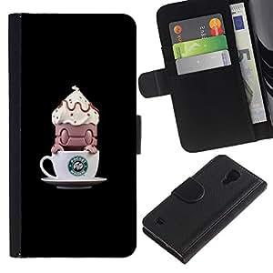 KingStore / Leather Etui en cuir / Samsung Galaxy S4 IV I9500 / ;