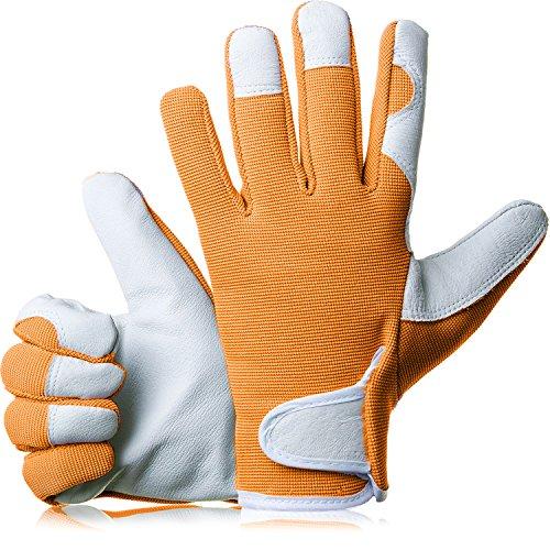 GardenersDream Leather Gardening Work Gloves