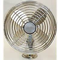 Power Products DF12V 12V DC All Metal Two Speed Chrome Dash Fan with 6 Blade