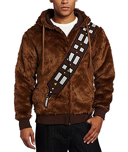 Chewbacca Costume Hoodie (Fancycosplay Hoodie Jacket Brown Furry Chewie Sweatshirt Cosplay Costume (XXL))