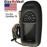 GARMIN 78 78sc 78 s Heavy-Duty Case Cover Skin in tactical *Special Ops Black* w/ Webbing Loop, Lanyard w/Clip. Only For Garmin GPSMap 78sc, 78s & 78. Search 'GizzMoVest' for all models. MADE IN THE USA.