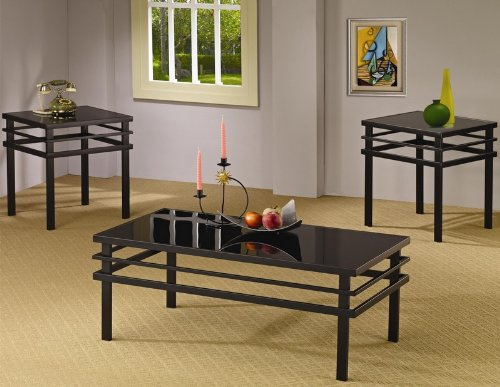 3pc-coffee-table-set-with-black-glass-top-in-black-metal-base