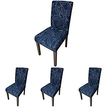 ColorBird Plant Series Spandex Dining Chair Slipcovers Removable Universal  Stretch Chair Protective Covers For Dining Room, Hotel, Banquet, Ceremony  (Set Of ...