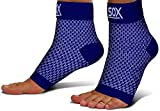 SB SOX Compression Foot Sleeves for Men & Women - Best Plantar Fasciitis Socks for Plantar Fasciitis Pain Relief, Heel Pain, and Treatment for Everyday Use with Arch Support (Navy, Large)