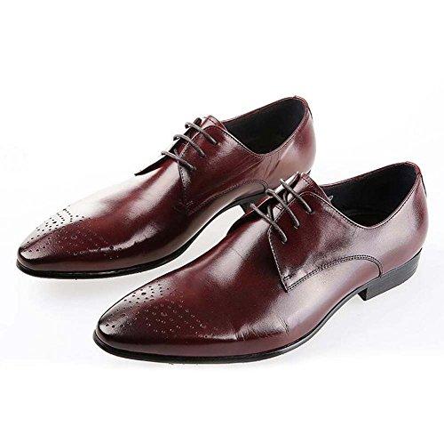 Ropa Boda Atmosféricos Vestimenta de 40 y Europa de con Versión Zapatos Unidos Zapatos los Estilo los Color Código la 37 Trabajo Hombres Marrón de Pequeño de Tamaño Estados 5cw6wOpqRf